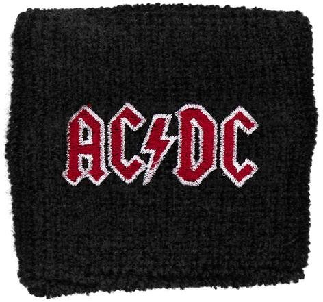 AC/DC - Red Logo (sudore band, Nero) AC/DC Braccialetto