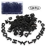 Jycra Lot de 214 lettres magnétiques en mousse Aimants de réfrigérateur Meilleur jouet éducatif pour l'apprentissage préscolaire et l'orthographe 3.5X0.9cm Noir