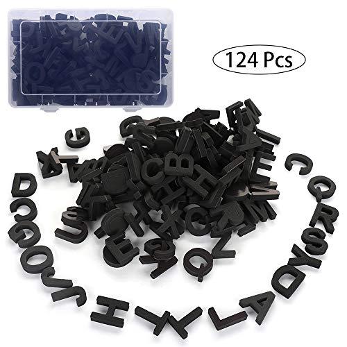 Homeng Kühlschrank-Magnete, Lernspielzeug, lustiges Alphabet-Set, magnetisch, Eva-Alphabet-Buchstaben mit Box, Schwarz, Einheitsgröße (Buchstaben Alphabet Magnet)