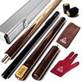 CUESOUL 57 Handcraft 3/4 Jointed Snooker Cue with Mini Butt End Extension Packed