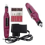 ZXK Set per manicure Professionale Elettrica Manicure Pedicure 20.000 Giri/Min (Rot)