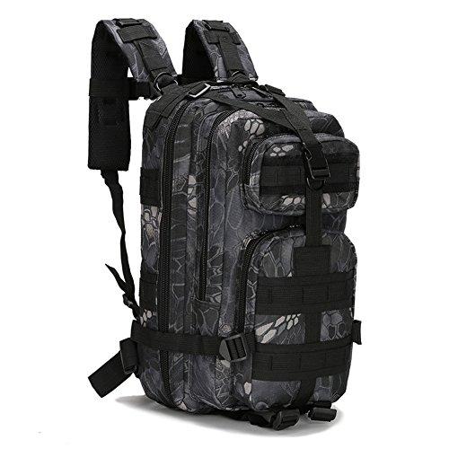 Echi - 3p zaino tattico, zaini militari impermeabili per escursioni e campeggio, per outdoor, trekking, escursionismo, caccia, 30l-dark gray