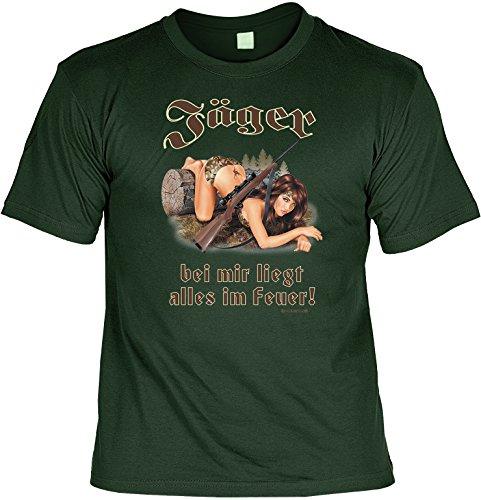Preisvergleich Produktbild Witziges Sprüche Fun T-Shirt : Jäger - bei mir liegt alles im Feuer!