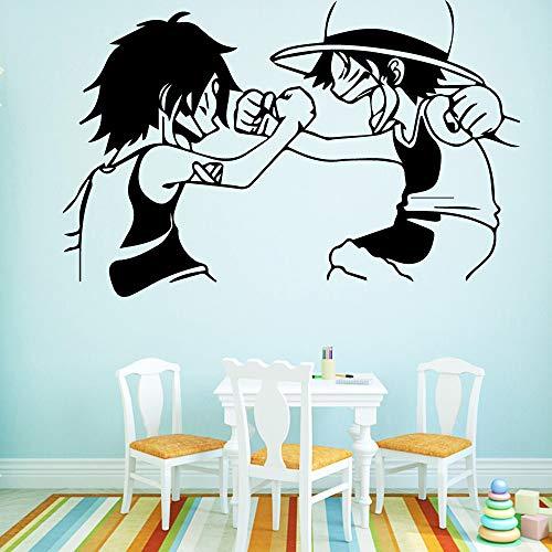 Personalisierte cartoon Bruder Selbstklebende Vinyl Wasserdichte Wandtattoo Kinderzimmer Dekor Wanddekoration Wandbilder A9 58 * 89 CM