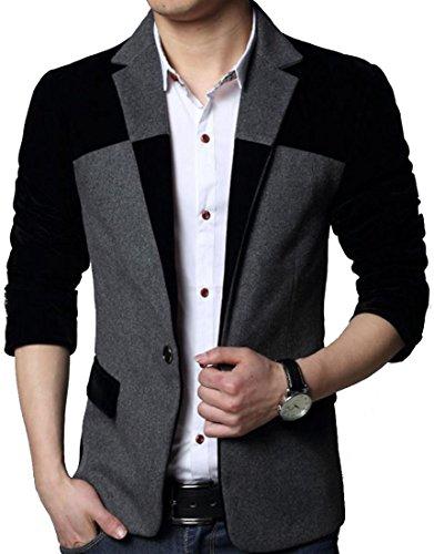 Laruise uomo British Style business-suit-jackets Black