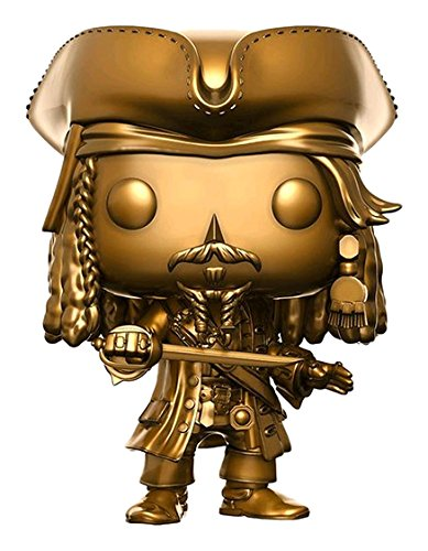 Funko 5 Pirates of The Caribbean Sin Mangas para Jack Sparrow Gold, 13842