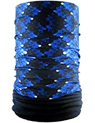 headloop polar extra largo negro azul de microfibra polar Tubo Bufanda Multifuncional Headwear cuello pañuelo en la cabeza