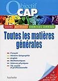 Image de Objectif CAP : Toutes les matières générales