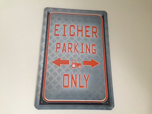 Eicher parking only - Blechschild 20x30 cm Parkplatz Garage Carport Schild 17 (Metall Carport 20x20)