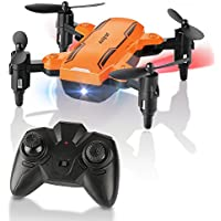 FuriBee Foldable Mini Drone, H815 Remote Control Quadcopter RC Drone with LED Night Light 6-Axis Gyro Helicopter - One Key Return Flying UFO Best Gift for Kids, Adults