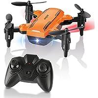FuriBee HELIFAR Mini Drone Pliable, H815 Télécommande Quadcopter RC Drone avec LED Veilleuse 6-Axe Gyro Hélicoptère - Mode sans tête, One Key Return, Les Cadeaux pour Les Enfants &Les Adultes