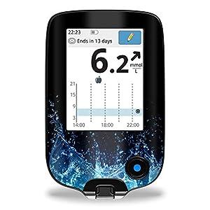 51oLJDWZ8GL. SS300  - Wasser - Sticker Aufkleber für FreeStyle Libre Lesegerät
