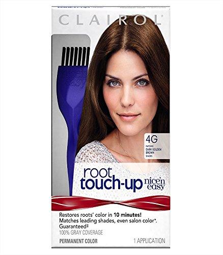 Clairol Crème colorante Nice 'n Easy Root Touch-Up - Retouche des racines - Couleur 5R/RB - Acajou moyen/Brun foncé rougeâtre