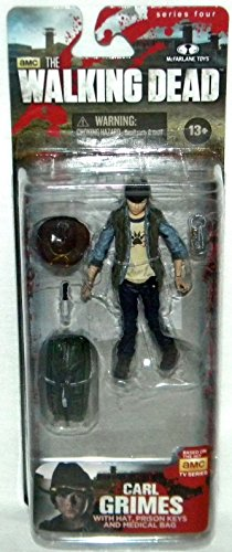 Serie 4 Action Figur Actionfigur: Carl Grimes 10 cm (McFarlane Toys) (Carl-figur)