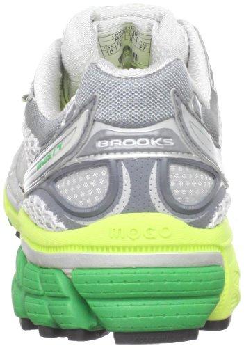 Brooks Ghost 4Women Bianco 1200921b351Taglia: 36,5, Donna, grigio/verde, 35.5 EU Grigio/Verde