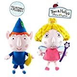 Ben & Holly's Little Kingdom 20cm (8 Inch) Ben Elf & Princess Holly Soft Plush Toys