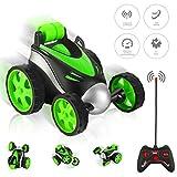 TTMOW Ferngesteuerte Auto, RC Stunt Auto Fernbedienung 360°Drehung, 2.4GHz Ferngesteuertes Rennauto für Kinderspielzeug für Jungen Mädchen (Grün)