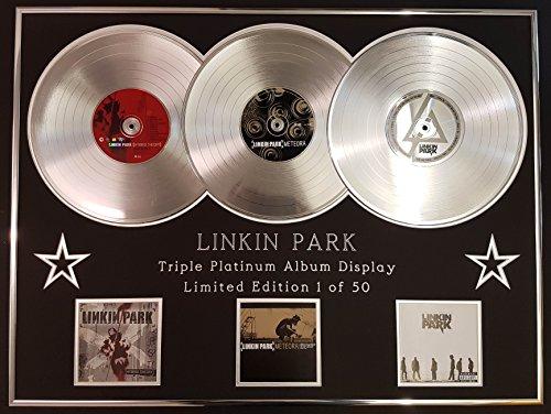 EC Linkin Park/Dreifach-Platin Album Anzeigen/Limitierte Edition/Hybrid Theory + Meteora + Minutes to Midnight/COA -