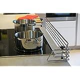 Barrera protectora para cocinas 100cm | en cromo pulido | placas de cocción | seguridad niños | de la marca Copa Design | instalación fácil