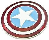 Captain america - Hebilla de cinturón - para hombre Rot, weiße & blau emailliert