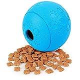 Raffaelo Juguete para Perro, Dog Treat Toy Juguetes Interactivos Bite Resistant Dog Treat Feeder Bola Dispensadora para Perros, Entrenamiento para Cachorros, Jugar y Masticar