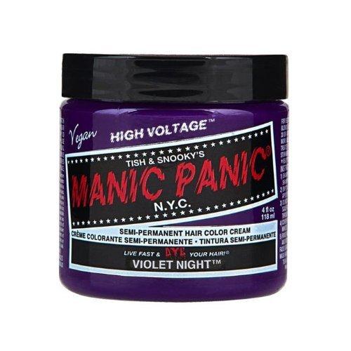Manic Panic High Voltage Hair Dye - Vegan Hair Dye - Violet Night (dark purple) 118ml by Manic Panic (English Manual)