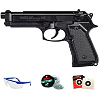 PACK Daisy 340 Powerline - Pistola de aire comprimido (muelle) de balines/perdigones BBs de acero 4.5mm | Réplica Beretta 92 <3,5 JULIOS