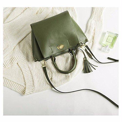 Borsa in pelle cuoio/messenger/borsa a tracolla/borsetta,verde Verde