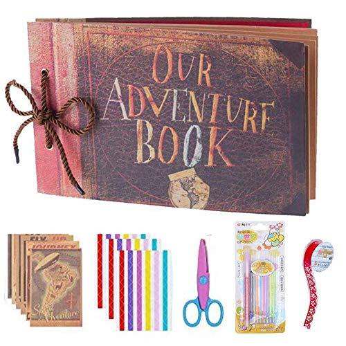 Awtlife Our Adventure Book Scrapbook Pixar Hochzeits-Zubehör DIY Familie Scrapbooking Album mit Zubehör Kit -