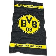Borussia Dortmund BVB Duschtuch Emma f/ür Kinder Schwarz//Gelb 140 x 70 x 1 cm Baumwolle