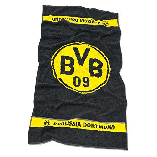 Borussia Dortmund BVB 09 Badetuch, Baumwolle, Schwarz/Gelb, 180 x 70 x 1 cm