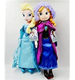"""Disney Frozen Sisters Doll Set Featuring 16"""" Plush Dolls of Anna and Elsa by Disney [Toy]"""