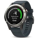Garmin Fēnix 5 Smartwatch Gps-Multisportuhr, Silber, Armband Blau, 47 mm -