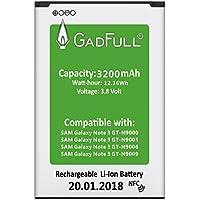 GadFull® Batterie pour Samsung Galaxy Note 3 | Date de Production est 2018 | correspond à l' EB-B800BE Lithium-Ionen-batterie d'origine du modèle GT-N9000 | GT-N9005 | GT-N9006 | GT-N9009