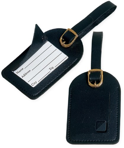 Travel Blue Kofferanhänger 2x Namensetiketten, schwarz, 012