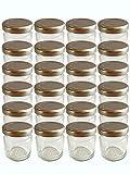 Vorratsgläser Set von hocz | 20 Einmachgläser mit Schraubdeckel 53 ml | Deckelfarbe Silber To 43 Weckgläser Marmeladengläser Gewürzgläser Dessertgläser Gläser Honiggläser Rundgläser