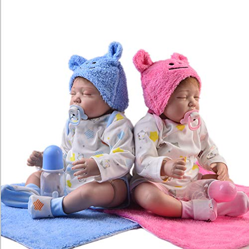 Candyana Reborn Doll 55cm Closed Eyes Simulation Baby Cute Birthday Twin Toy,55cm