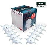 Atemschutzmaske FFP3 (10 Stk.) in absoluter Premium-Qualität | Exzellenter Atemschutz Bei optimalem Sitz | Einweg Feinstaub Maske (Halbmaske über Mund und Nase) von Clean Breath