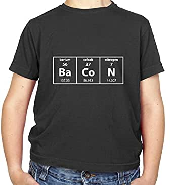BaCoN - Periodic table of elements - Childrens / Kids T-Shirt - Black - L (9-11 Years)
