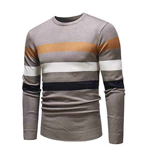ITISME TOPS Herren Herbst Winter Pullover Pullover Slim Jumper Strick Outwear Bluse Winter Warm halten
