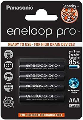 Panasonic Eneloop Pro - Pack 4 pilas AAA recargables