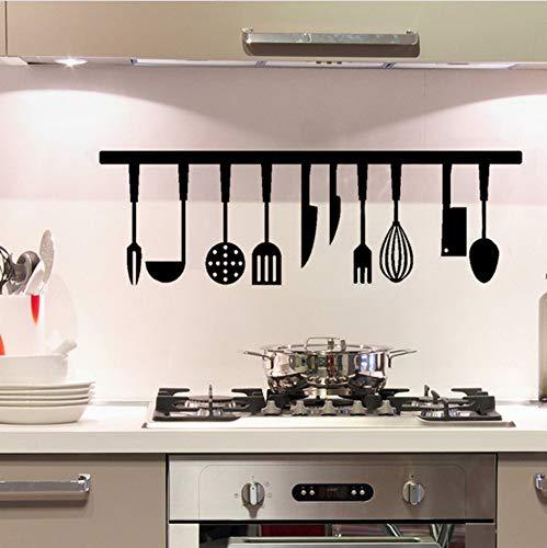 Geschirr Wandaufkleber Küche DIY Hintergrund Dekoration Wandkunst Aufkleber Wohnkultur Aufkleber PVC Tapete