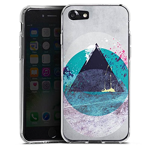Apple iPhone X Silikon Hülle Case Schutzhülle Kreis Dreieck Klecks Silikon Case transparent