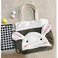 Preisvergleich für Yudanwin Leinwand-Lunch-Tasche Original Stoff frische Lunch Box Tasche Tragbare Lunch Bag (grau)