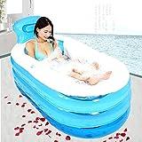 WENBIAOXUEPraktische tragbare aufblasbare aufblasbare Badewanne des Kindes Sauna-Bad Die faltende Badewanne QLM-Aufblasbare Badewanne und aufblasbares Tauchbad (Farbe: Rosa) , blue , 168cm