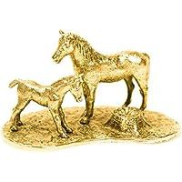 Cavallo e Puledro Made in UK, Collezione Statuetta Artistici Stile animale (con la placcatura d