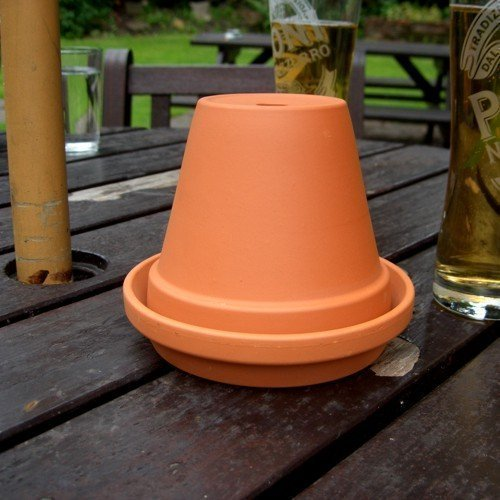 Terracotta Flowerpot Ashtray (13cm Diameter Pot)