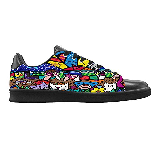Dalliy Romero Britto Men's Canvas shoes Schuhe Lace-up High-top Sneakers Segeltuchschuhe Leinwand-Schuh-Turnschuhe D