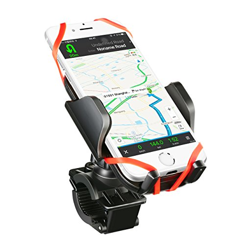 Soporte Movil Bicicleta Universal, Mpow Soporte de Móvil y Cámara Deportiva para Bicicleta Motocicleta Apoyo 360 Rotación,con 2 Silicona Banda, Brazo Ajustable Compatible con iPhone 7 / 7 Plus / 6 / 6s / 6 plus, Google Nexus 5/4, HTC BQ y Dispositivo del GPS