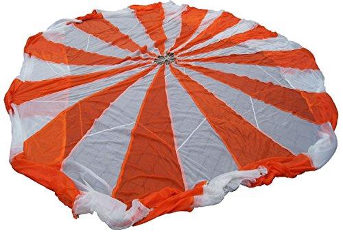 Fallschirm Kappe orange/weiß gebraucht Fallschirmkappe Sonnenschutz Schwungtuch